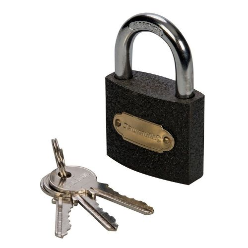 Silverline MSS05I Iron Padlock 60mm
